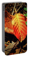 Portable Battery Charger featuring the photograph Loud Leaf by Adria Trail