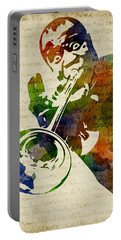 Louis Armstrong Watercolor Portable Battery Charger