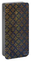 Louis Vuitton Black And Gold Monograms Portable Battery Charger