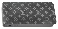 Louis Vuitton Black And White Monogram Portable Battery Charger