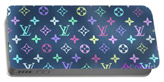 Louis Vuitton In Blue Monogram Portable Battery Charger