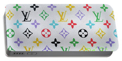 Louis Vuitton In White  Monogram Portable Battery Charger