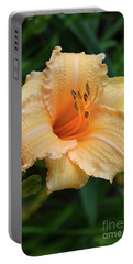 Portable Battery Charger featuring the digital art Louise Manelis Daylily by Eva Kaufman