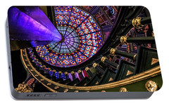 Portable Battery Charger featuring the photograph Old Louisiana State Capitol Kaleidoscope by Andy Crawford