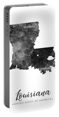 Louisiana State Map Art - Grunge Silhouette Portable Battery Charger