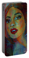 Lourdes At Twilight Portable Battery Charger by P J Lewis