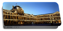 Portable Battery Charger featuring the photograph Louvre At Night 1 by Andrew Fare