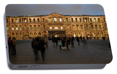 Portable Battery Charger featuring the photograph Louvre Palace, Cour Carree by Mark Czerniec
