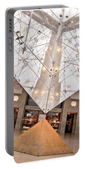 Portable Battery Charger featuring the photograph Louvre Pyramid by Silvia Bruno