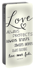 Love Always Portable Battery Charger