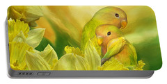 Love Among The Daffodils Portable Battery Charger