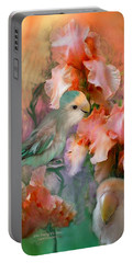 Love Among The Irises Portable Battery Charger by Carol Cavalaris