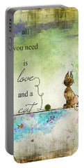 Love And A Cat Ginkelmier Portable Battery Charger