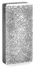 Love And Chrysanthemum Filled Hearts Vertical Portable Battery Charger by Tamara Kulish