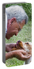 Love At First Sight Portable Battery Charger by Susan Molnar