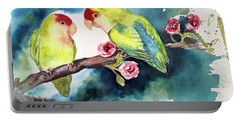Love Birds On Branch Portable Battery Charger