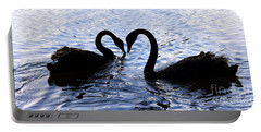 Love Birds On Swan Lake Portable Battery Charger