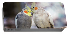 Love Birds Portable Battery Charger by Stephanie Hayes