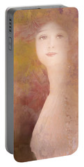 Portable Battery Charger featuring the digital art Love Calls by Jeff Burgess