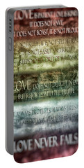 Portable Battery Charger featuring the digital art Love Does Not Delight In Evil by Angelina Vick