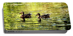 Portable Battery Charger featuring the photograph Love Ducks by Sadie Reneau