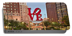 Love Fountain At Daybreak Portable Battery Charger