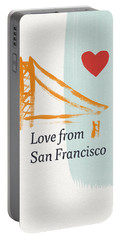 Love From San Francisco- Art By Linda Woods Portable Battery Charger