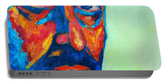 Portable Battery Charger featuring the painting Love Him So Much by Ana Maria Edulescu