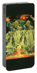 Love In The Age Of War Portable Battery Charger by Vennie Kocsis