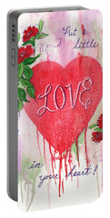 Portable Battery Charger featuring the painting Love In Your Heart by Marilyn Smith