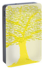 Portable Battery Charger featuring the painting Love Inspiration Tree by Go Van Kampen