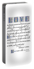 Love Is Always Patient Portable Battery Charger