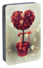 Portable Battery Charger featuring the digital art Love Is In The Air by Lois Bryan