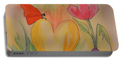 Love Is In The Air Portable Battery Charger by Maria Urso