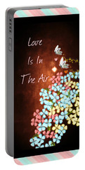 Love Is In The Air Portable Battery Charger by Sherry Flaker