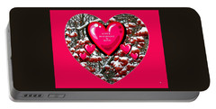 Portable Battery Charger featuring the digital art Love Is Patient And Kind by Will Borden