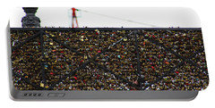 Love Locks Bridge Ile De Cite Paris Portable Battery Charger