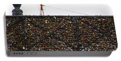 Love Locks Bridge Ile De Cite Paris Portable Battery Charger