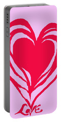 Love Portable Battery Charger by Mary Armstrong
