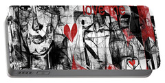 Love Me  Portable Battery Charger by Sladjana Lazarevic
