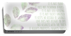 Love Never Fails Portable Battery Charger