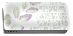 Portable Battery Charger featuring the photograph Love Never Fails by Andrea Anderegg