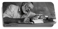 Love Of Writing - Ernest Hemingway Portable Battery Charger