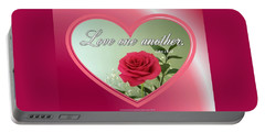 Portable Battery Charger featuring the digital art Love One Another Card by Sonya Nancy Capling-Bacle
