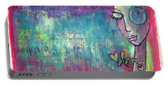 Love Painting Portable Battery Charger