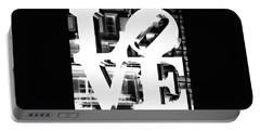 Love Philadelphia White  Portable Battery Charger