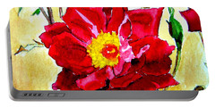 Portable Battery Charger featuring the painting Love Rose by Ana Maria Edulescu