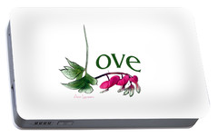 Portable Battery Charger featuring the digital art Love Shirt by Ann Lauwers
