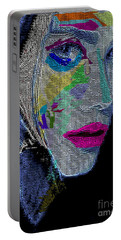 Portable Battery Charger featuring the digital art Love The Way You Look by Rafael Salazar
