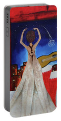 Portable Battery Charger featuring the painting Love To Dance 002 By Saribelle Rodriguez by Saribelle Rodriguez